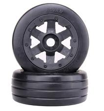 Front Slicks wheels set (x 2pcs) fit HPI Rovan baja 5b King motor truck