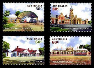MUH Historic Railways Stations 2013 Australian Sheet Stamp Set