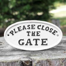METAL SIGN SHEEP LOOSE PLEASE CLOSE THE GATE PLAQUE SAFTEY FARM