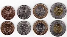 MAURITANIA - 4 DIF UNC COINS SET: 5 - 50 OUGUIYA BIMETAL 2009-10 YEARS