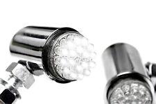 24 LED Running Light Turn Signal Chrome Motorcycle Cruiser Custom Chopper Marker