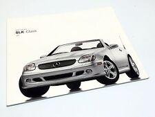 2003 Mercedes-Benz SLK-Class 230 Kompressor SLK 320 SLK 32 AMG R170 Brochure USA