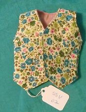 "Green Floral & Mauve Reversible Vest 18"" Supersize Barbie Tiffany Taylor SSV02"