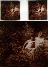 New listing Stereo photo on glass erotic nu feminin 1880 - 1900/524 nude risque