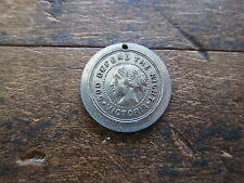 Antique Religious Victorian Temperance Prohibition Medal Rock of Ages Medallion