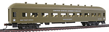 HO US ARMY MILITARY TROOP COACH CARRIER HARRIMAN  PASSENGER CAR MRC # 99895