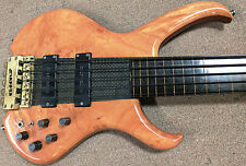 1980's Clover Slapper 5 String Fretless Bass Guitar Headless Composite Neck Thru
