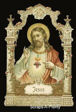 German Embossed Scrap Die Cut -Large Jesus Christmas / Easter Religious  BK5145