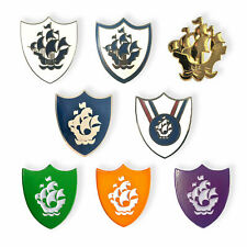 More details for full set of 8 blue peter enamel pin badges | novelty tv show | 24 hour dispatch
