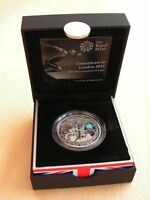 London 2012 Olympic £5 Silver Piedfort Coin Royal Mint Paralympic Countdown 2011