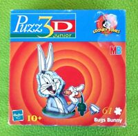 VINTAGE PUZZ 3D JUNIOR: BUGS BUNNY! PUZZLE HASBRO MB. BRAND NEW IN BOX OLD STOCK