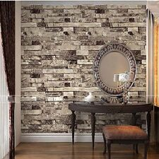 Three-dimensional Wallpaper Brick Wall Wallpaper 3D Textured Bricks Gray 5.3㎡