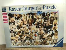 """Ravensburger 1000 Piece Jigsaw Puzzle DOGS GALORE  27""""x20"""" New Sealed Puppies"""