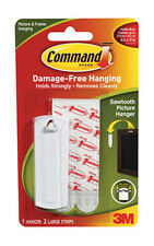 3M Command Sawtooth Picture Hanger 1 Hanger/ 2 Large strips White 17040