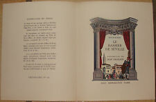 BEAUMARCHAIS. LE BARBIER DE SEVILLE. LE MARIAGE DE FIGARO. GRADASSI. 1954. SUITE