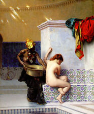 Art Oil painting Jean-Leon Gerom - Turkish Bath or Moorish Bath (Two Women) 36""