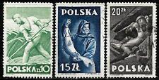 POLAND 1947 Old Stamps - Farmer, Fisherman, Miner
