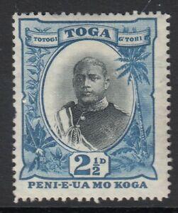 Tonga 1897 SG43 King George II 2½d black and blue - mounted mint