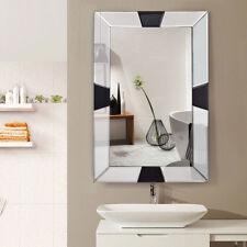 "23.5"" x 35.5"" Rectangular Wall-Mounted Wooden Frame Vanity Mirror Glass Bathroom"