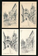 Sussex RYE Collection 10 Artist pencil drawings c1950/60s? PPCs
