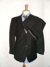 NEW WT $895 HICKEY BY HICKEY FREEMAN SUIT SIZE 39 R  33 X 30 100% WOOL BLACK #36
