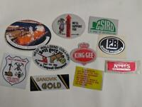 Retro Mining Sticker - 10 Stickers as pictured (Lot 36)