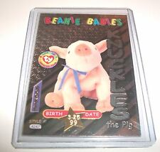 Ty S3 RARE 4247 KNUCKLES THE PIG BIRTHDAY SILVER CARD INSERT ONLY #41 ROOKIE