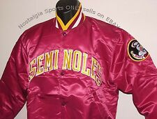 Vintage 80s Florida St SEMINOLES STARTER Jacket SATIN NEW Old Stock Size MEDIUM