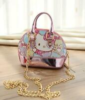 Kawaii Pink Hello Kitty Bear Shoulder Crossbody Bag Mini Tote Handbag Girls Gift