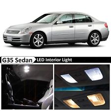 11x White LED Lights Interior Package  2003-2006 G35 Sedan