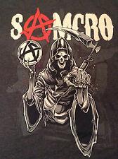 Sons of Anarchy Samcro Grim Reaper SOA Redwood Original Camiseta Gris Carbón