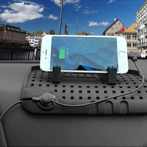 Car Phone Charging Stand Mount Phone Holder Bracket With Magnetic Adsorption