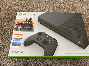 New Xbox One S Console - 500gb Storm Grey Special Edition Battlefield 1 Bundle