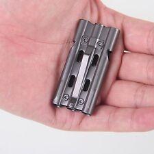 120DB Stainless Steel Survival lifesaving emergency SOS Whistle + Clip #Gun Grey