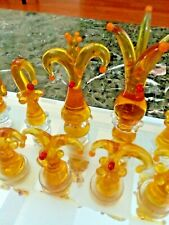 Abstract Clown Limited Edition Crystal Chess Set 1st Set Produced!!! #1 of 50!!!