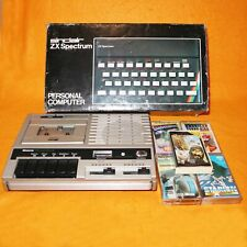 VINTAGE SINCLAIR ZX SPECTRUM 48K COMPUTER BOXED + GAMES LOT BUNDLE RUBBER KEYS