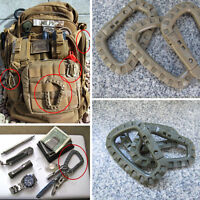D-Ring Military EDC Carabiner Backpack Hook Snap Outdoor Tactical Gear Keychain