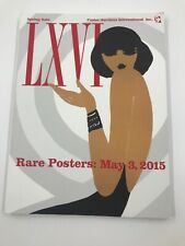 LXVI Rare Posters May 3, 2015 RENNERT Spring Sale  Auctions Int'l Catalog Book