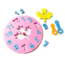 Foam Number Clock Time Puzzle Children Baby Learning Educational Play Toy