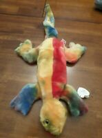 Ty Beanie Buddies Collection LIZZY Ty-Dyed LIZARD  W/Tags 1999, Retired & New