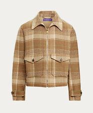 Ralph Lauren Purple Label Plaid Cashmere Wool Harvick Newsboy Jacket New $2995