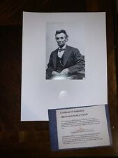 Abraham Lincoln Hair Strand Lock Piece Speck President Relic not signed