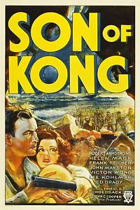 Son of Kong 1933  One Sheet on Linen  Graded (8) by MP Grading  VF-   Style A
