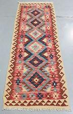 Afghan Hand Knotted Vegetable Dye Kilim Runner - 191x63cm (Ref. 105527)