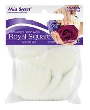 Mia Secret 50 Pc Royal Square Clear Nail Tip Size 8 Acrylic Gel Manicure
