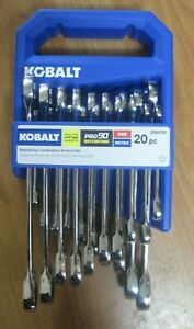 Kobalt Pro 90 Ratcheting Combination Wrench Set - 20 Pieces - #2884761