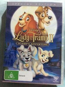 Lady and the Tramp 2 : Scamps Adventure - Region 4 DVD - Great Cond - FREE POST