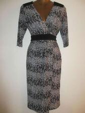 V-Neck Work Geometric Regular Size Dresses for Women