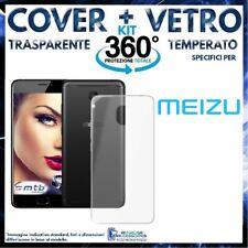 COVER TRASPARENTE + PELLICOLA VETRO TEMPERATO Per MEIZU MX6 CUSTODIA MX 6 SLIM
