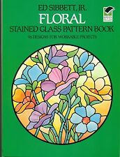 FLORAL Stained Glass Pattern Book, 96 designs, Suncatchers, Panels